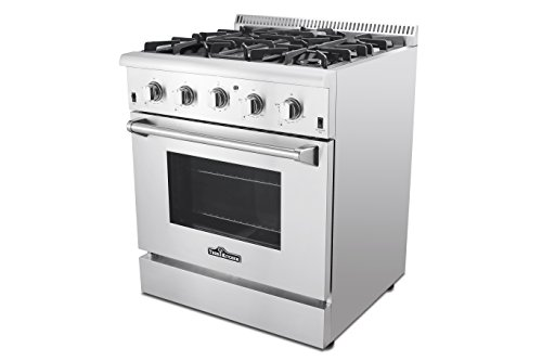 Thor Kitchen Hrg3080u 30 Freestanding Professional Style Gas Range With 4 2 Cu Ft Oven 4 Burners Convection Fan Cast Iron Grates And Blue